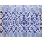 Firana woal biały z aplikacją  270 cm II szlaki ROZETKI