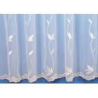 KUPON: Firana woal biały haftowany 235 x 280 cm